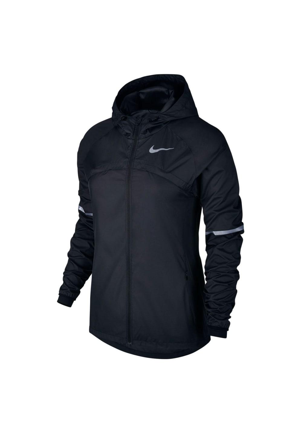 Nike Shield Hooded Running Jacket - Laufjacken für Damen - Schwarz, Gr. XS