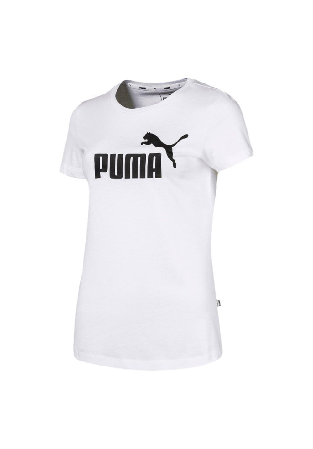 Puma Essential Logo Tee - Laufshirts für Damen - Weiß, Gr. XL