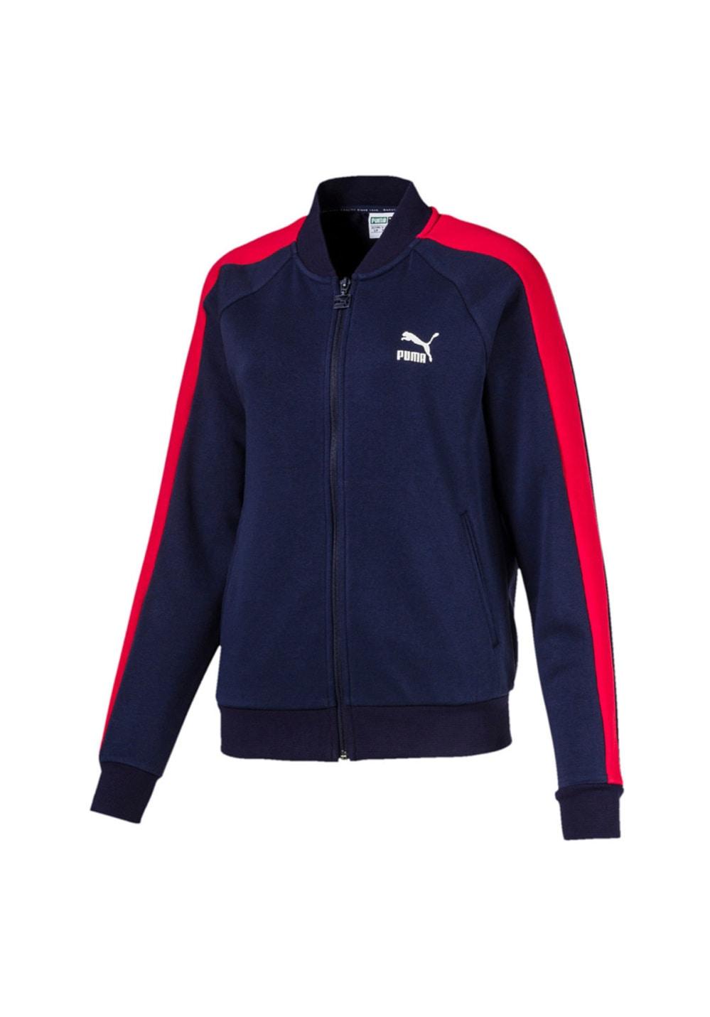 Puma Classics T7 Track Jacket, FT - Laufjacken für Damen - Blau, Gr. L