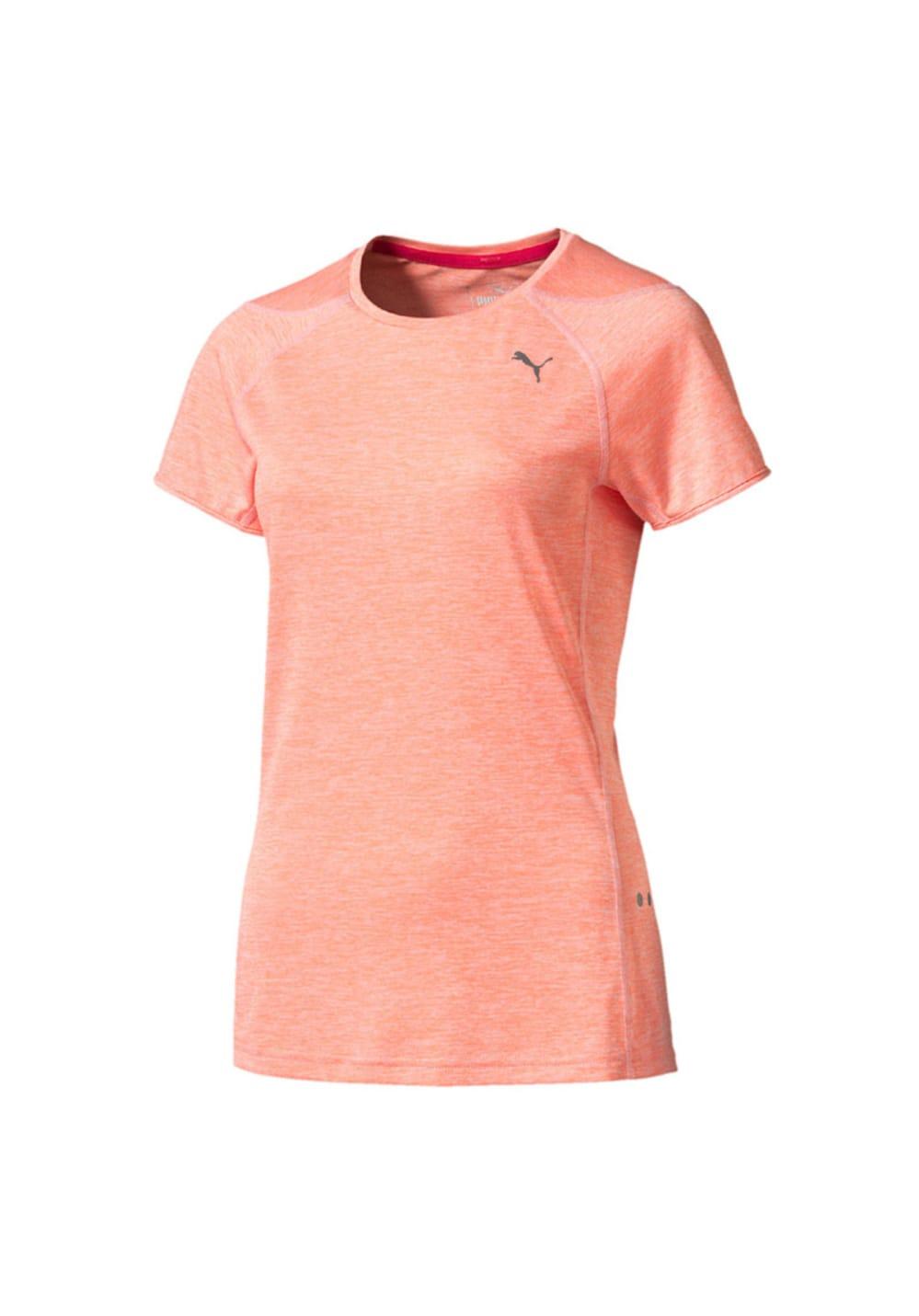 Puma Short Sleeve Tee - Laufshirts für Damen - Pink, Gr. L