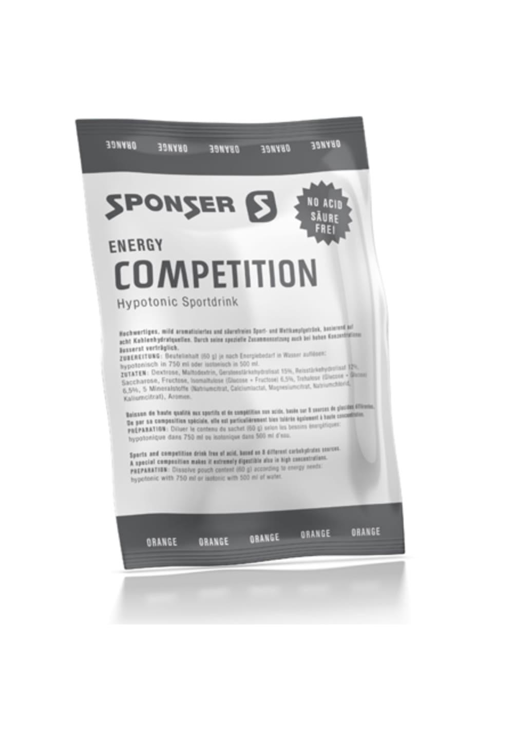 Sponser Competition 60g Orange Sporternährung - Grau