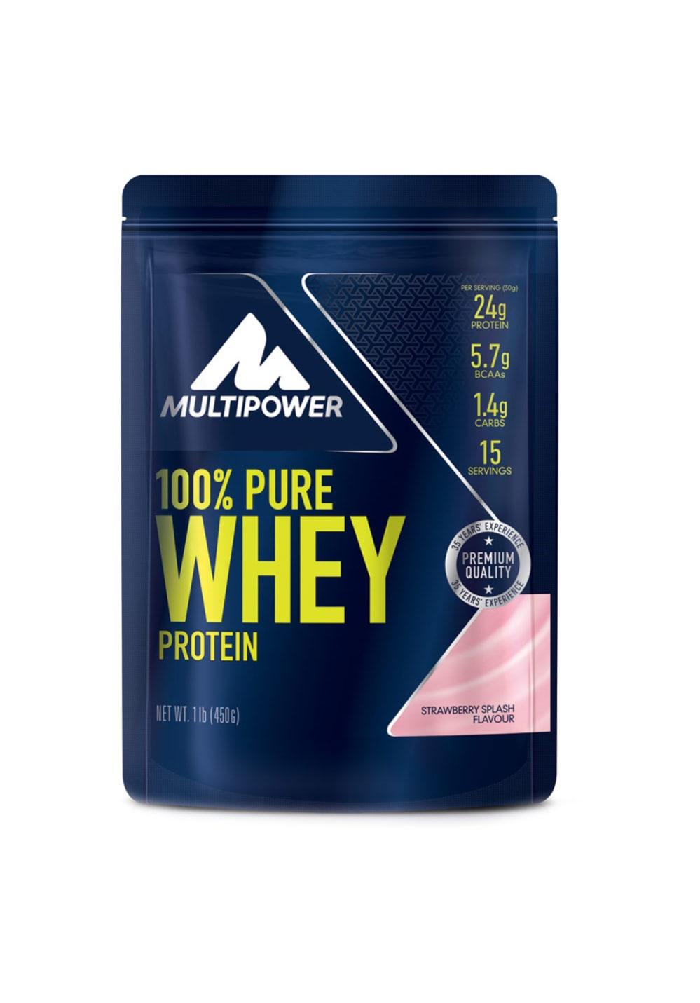 Multipower 100 % Pure Whey Strawberry Splash 450g Sporternaehrung Unisex unisize
