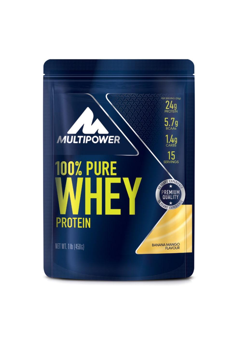 Multipower 100 % Pure Whey Banana Mango 450g Sporternaehrung Unisex unisize, Gr.