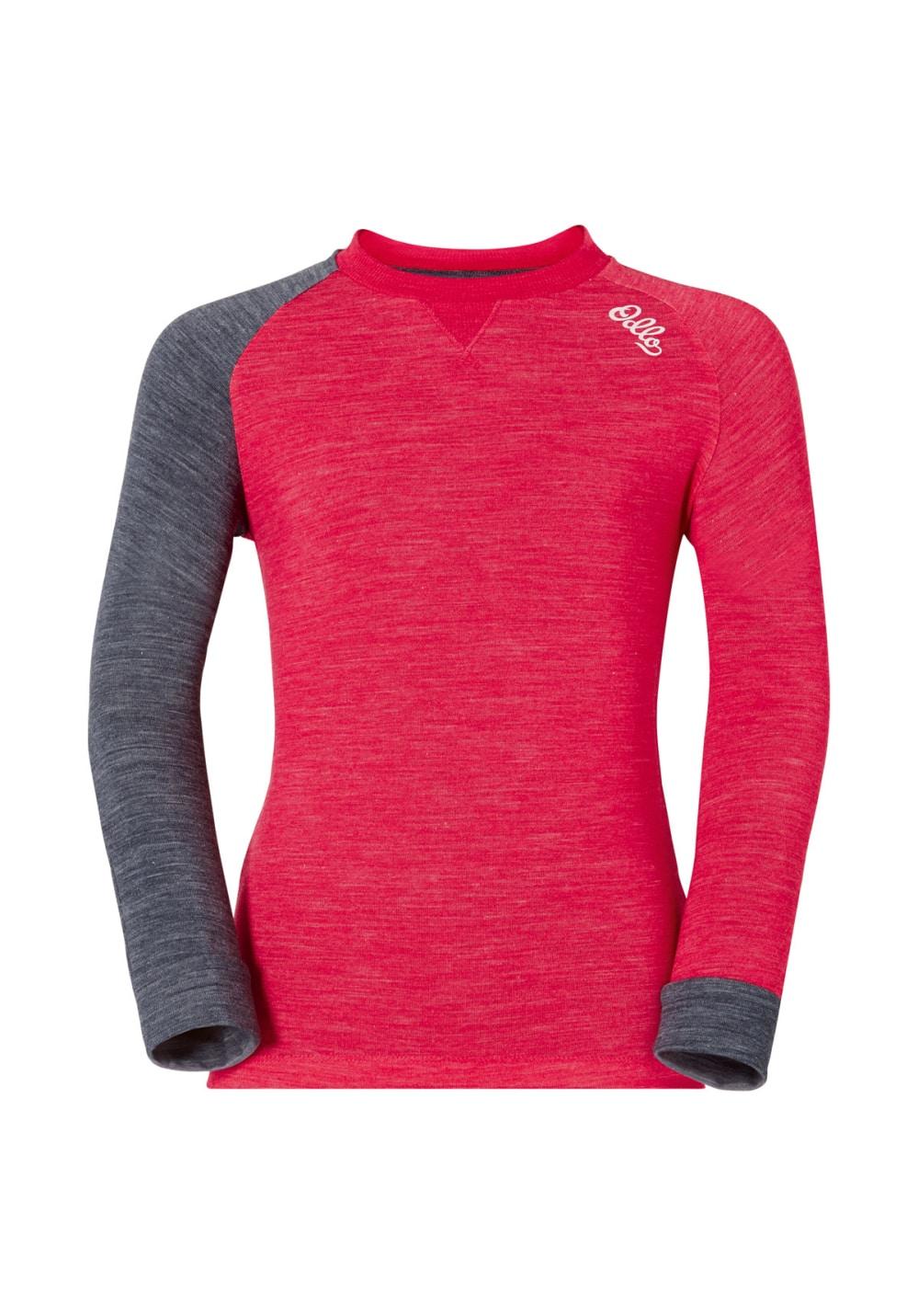 Odlo Shirt Long Sleeve Crew Neck Revolution TW Warm Kids - Funktionsunterwäsche für Kinder Unisex - Rot