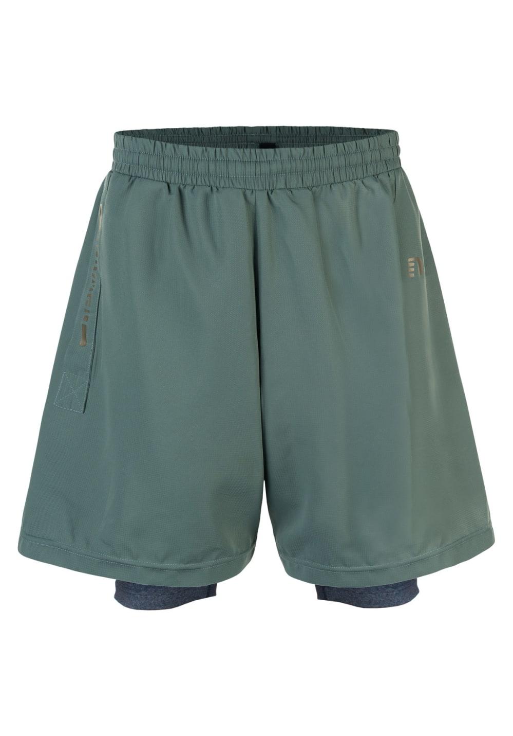 Newline Imotion 2-Lay Shorts - Laufhosen für Herren - Grau, Gr. S