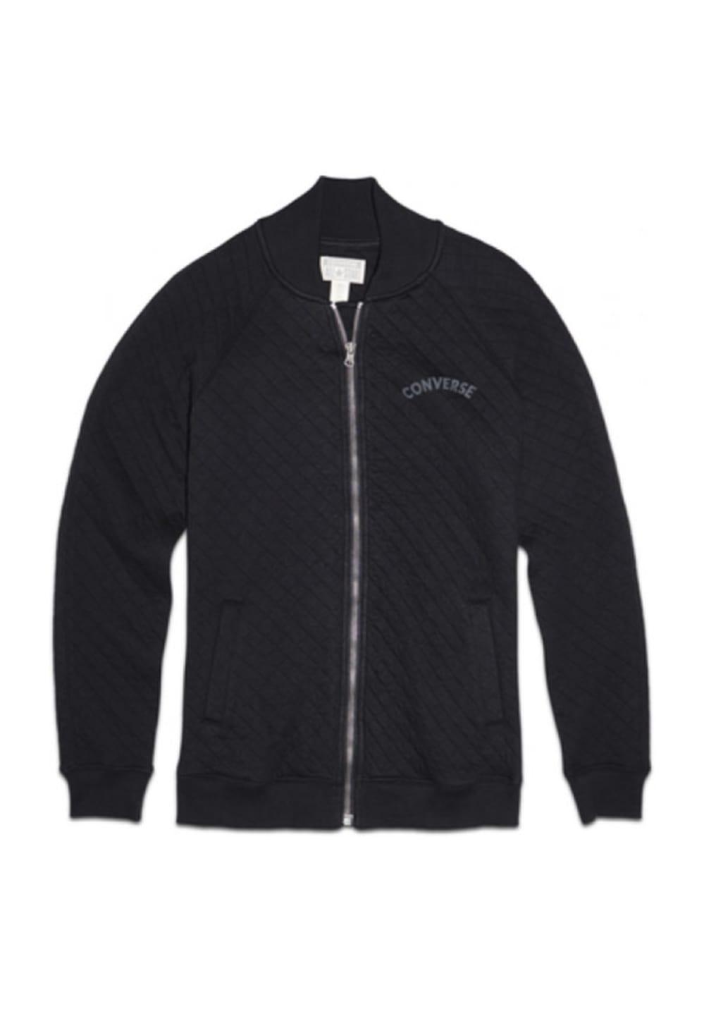 Converse Core Plus Quilted Bomber - Sweatshirts & Hoodies für Damen - Schwarz,