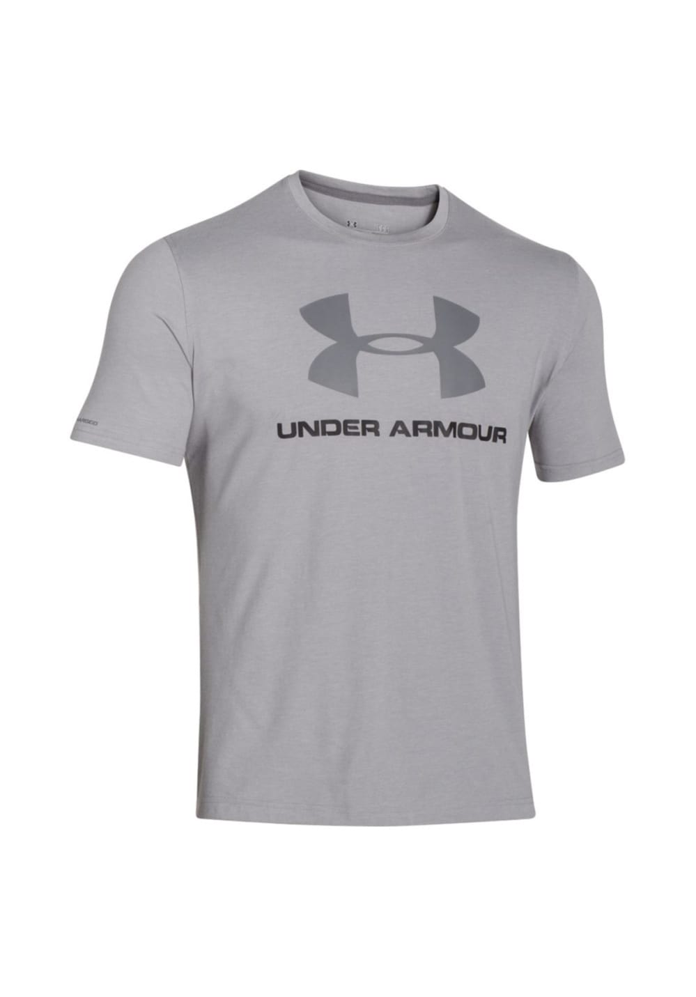 Under Armour Charged Cotton Sportstyle Logo - Fitnessshirts für Herren - Grau