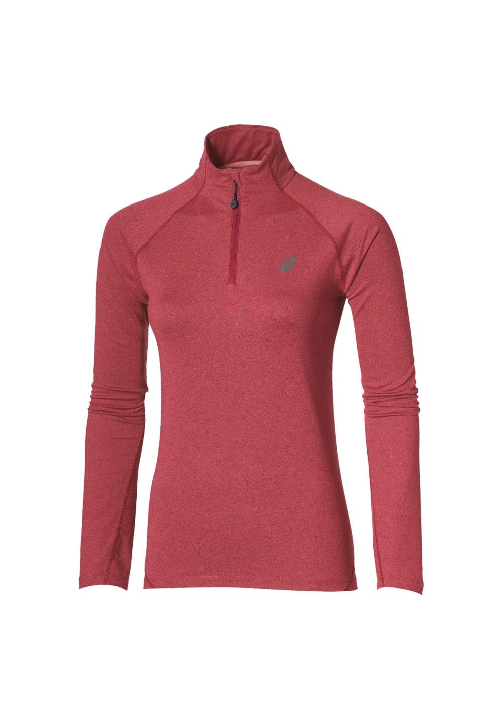ASICS Long Sleeve 1/2 Zip Jersey - Laufshirts für Damen - Rot, Gr. XL
