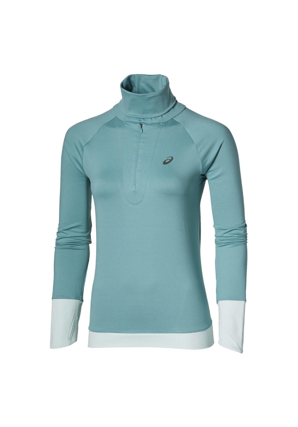 ASICS Thermopolis 1/2 Zip Long Sleeve - Laufshirts für Damen - Blau, Gr. XL