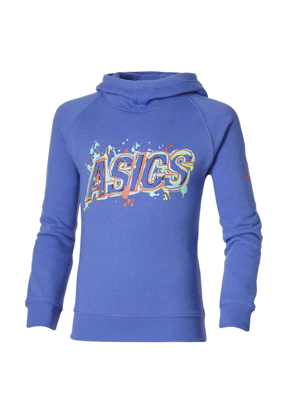 ASICS Graphic Hoodie - Laufshirts für Kinder Unisex - Blau, Gr. L