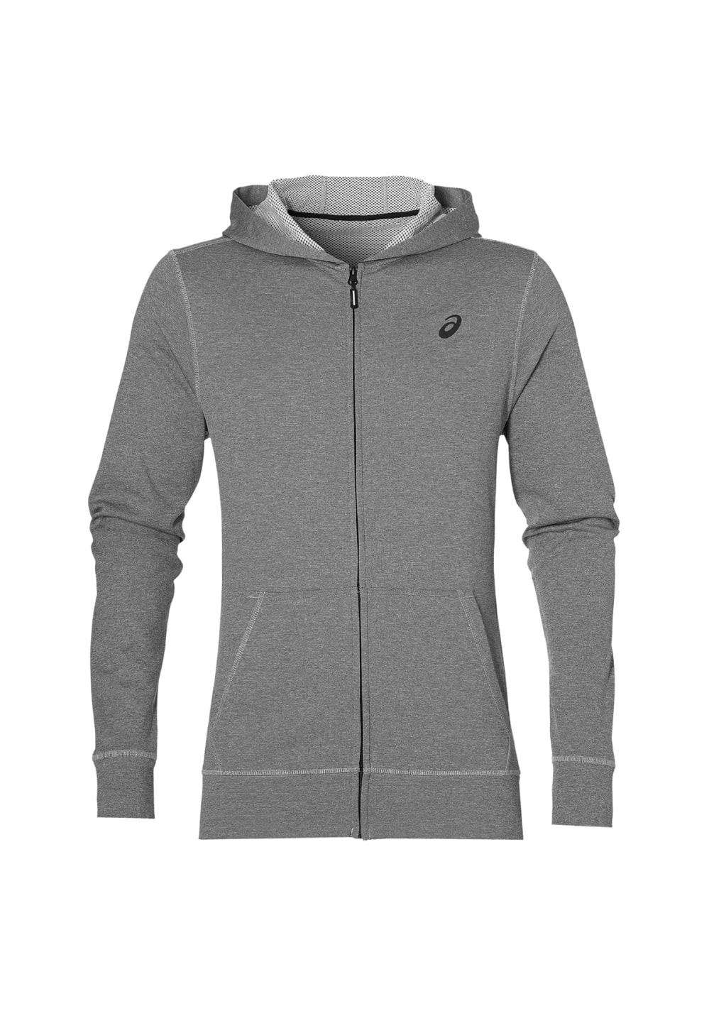 ASICS Tech Fz Hoody - Sweatshirts & Hoodies für Herren - Grau, Gr. XXL