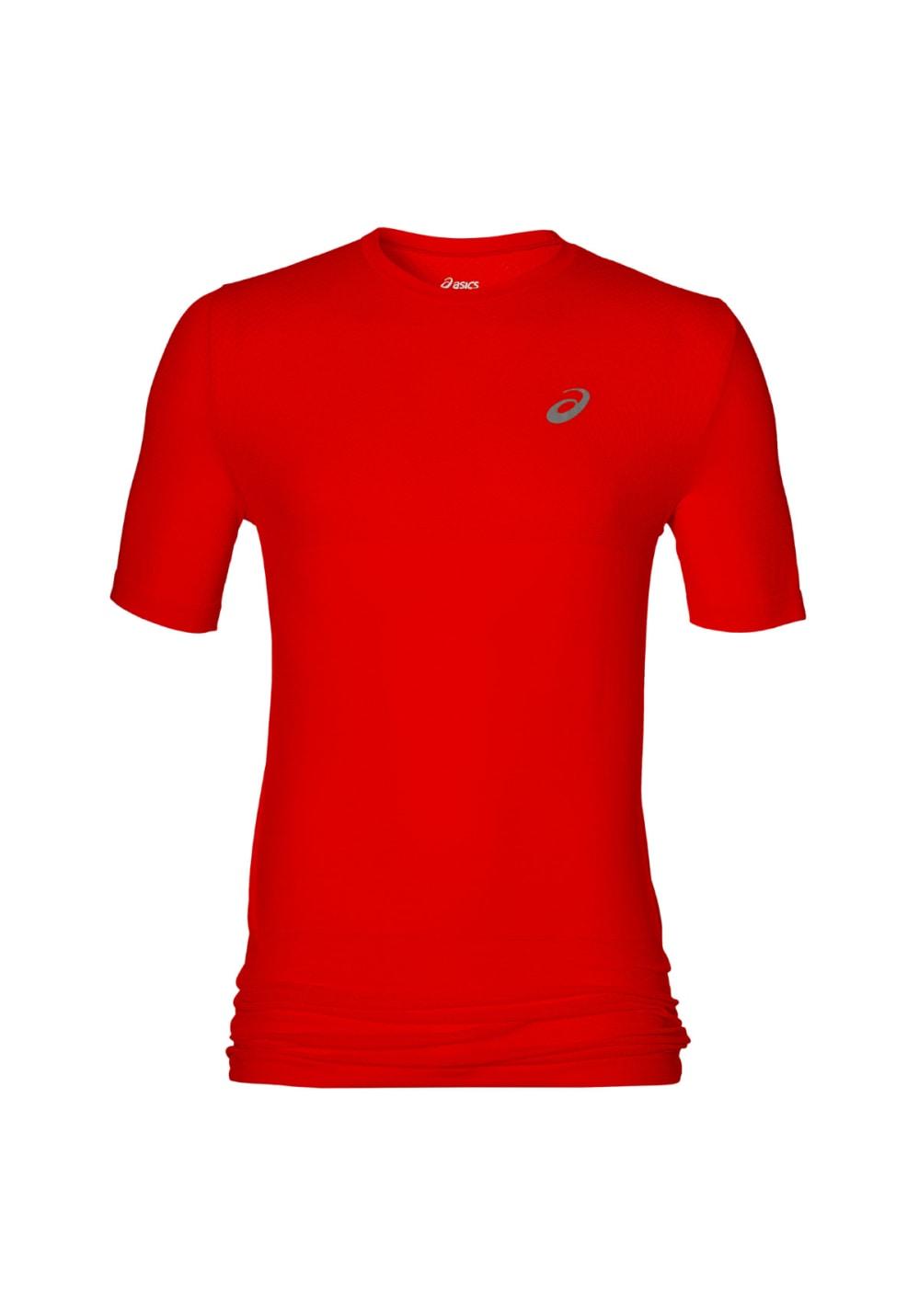 ASICS fuzeX Seamless Short Sleeve - Laufshirts für Herren - Rot, Gr. XXL
