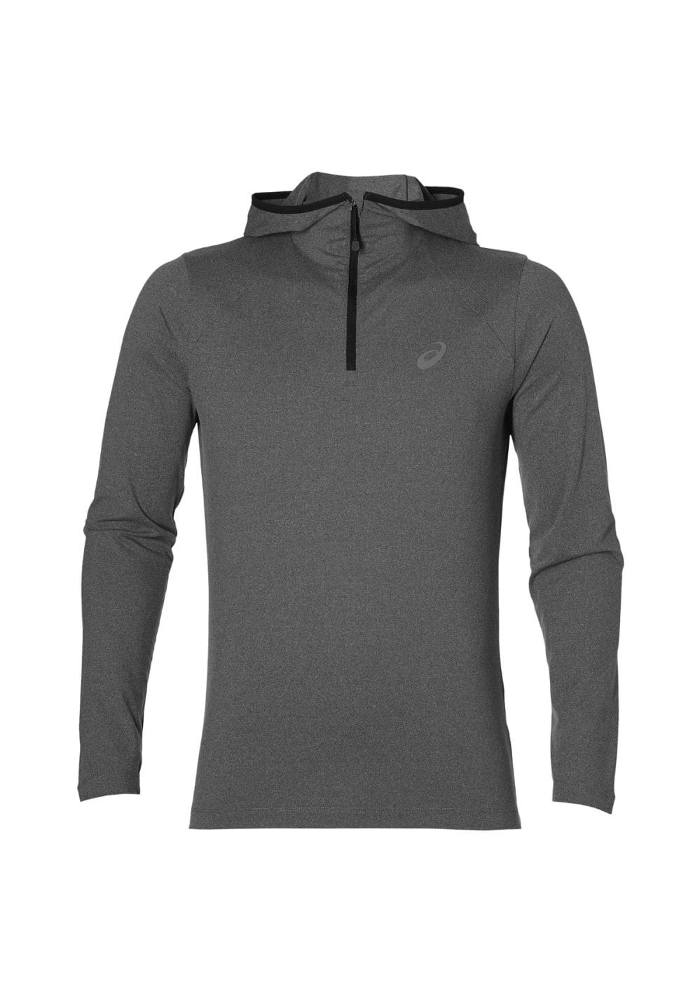 ASICS Long Sleeve Hoodie - Sweatshirts & Hoodies für Herren - Grau, Gr. XL
