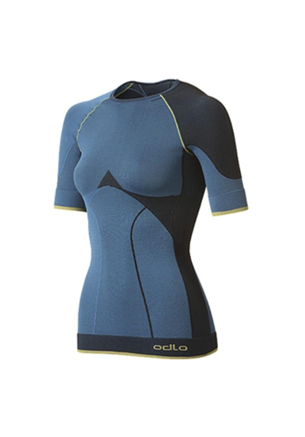 Odlo Shirt S/S Crew Neck Evolution Warm Green - Funktionsunterwäsche für Damen
