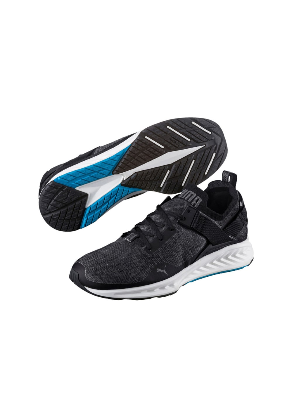 Running Noir Chaussures Homme Evoknit Pour Ignite Low Puma DWEI29H
