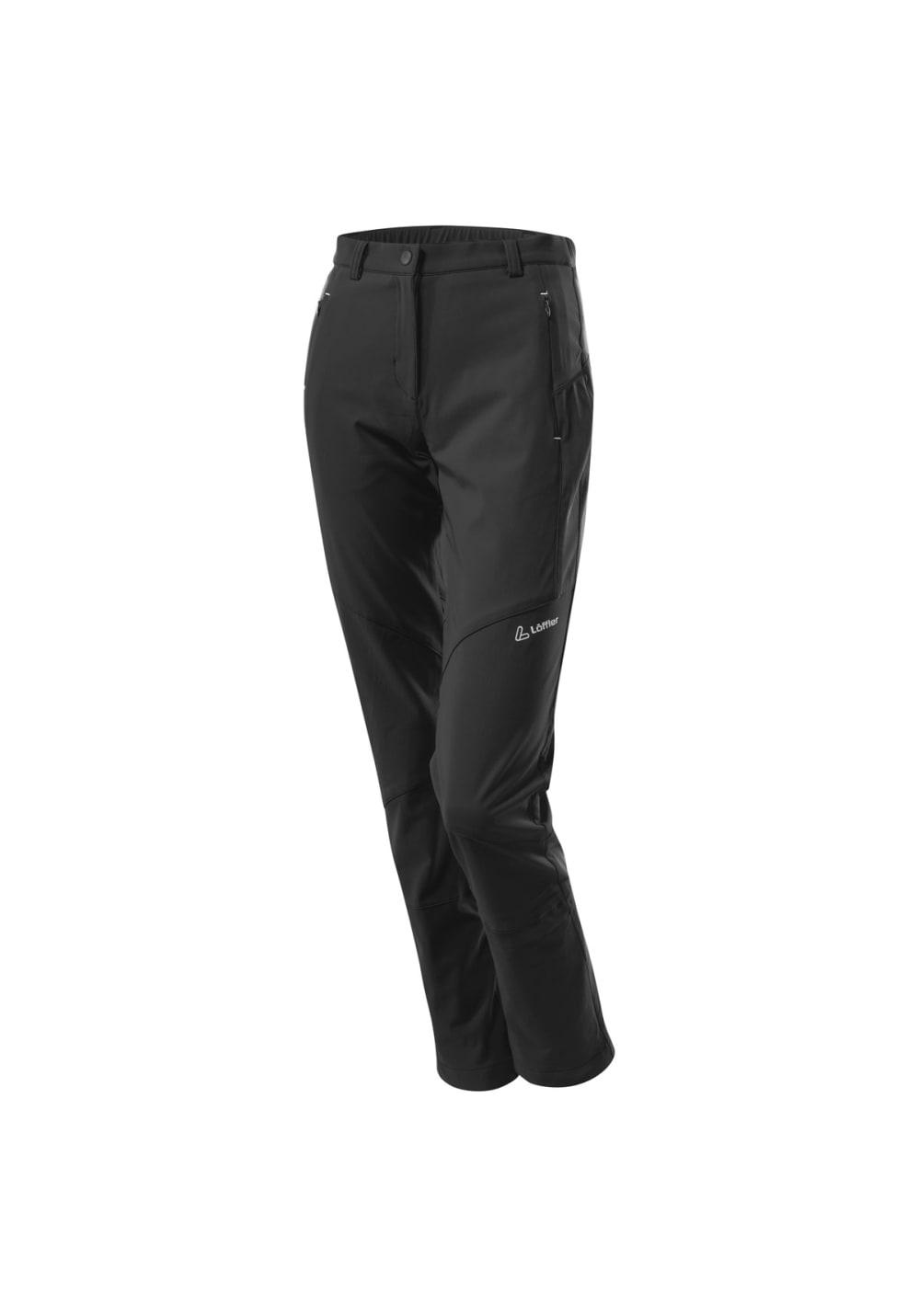 Löffler Active Shell Comfort Pants - Radhosen für Damen - Schwarz, Gr. 76