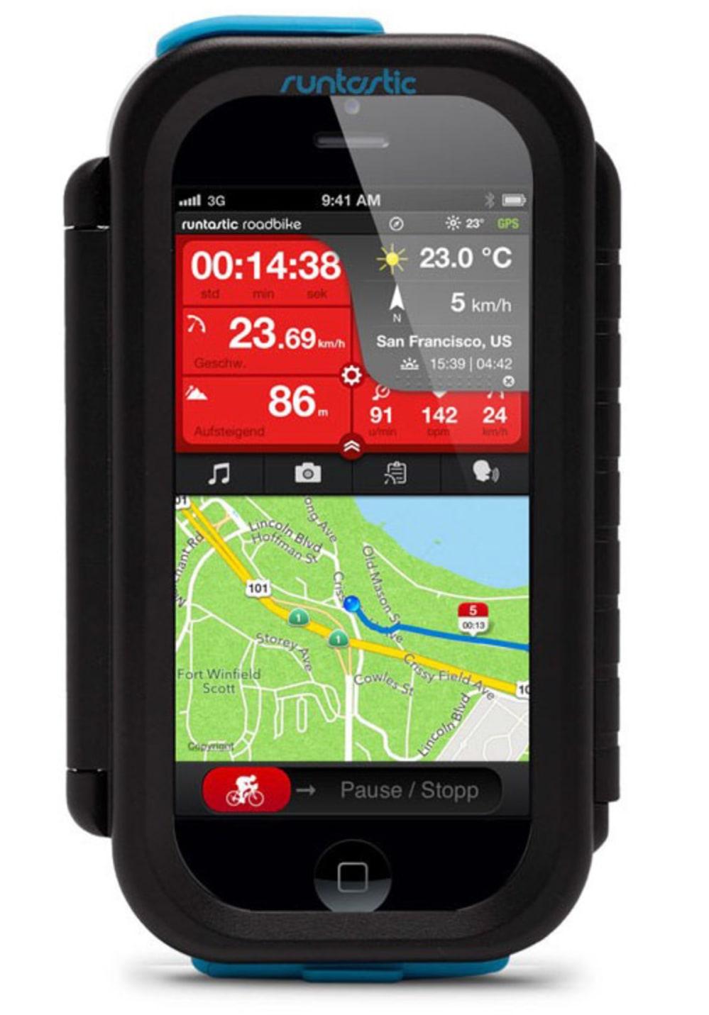 Runtastic Bike Case für I Phone black Herzfrequ...