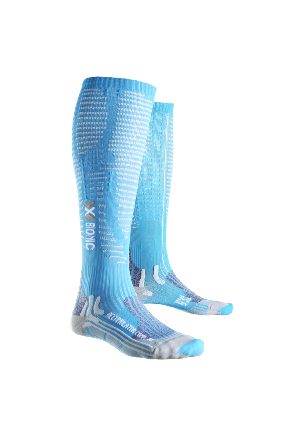X-Bionic Accumulator Competition - Laufsocken für Damen - Blau, Gr. 39-42 S