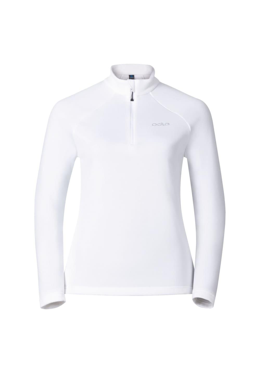 Odlo Midlayer 1/2 Zip Snowbird - Laufshirts für Damen - Weiß, Gr. XL