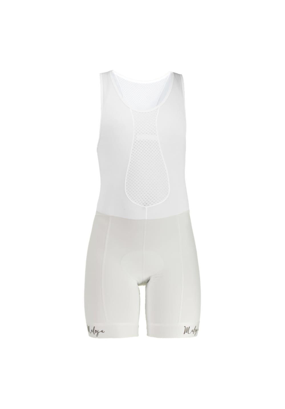 Maloja FingerhutM. Bib Shorts - Radhosen für Damen - Weiß, Gr. XL