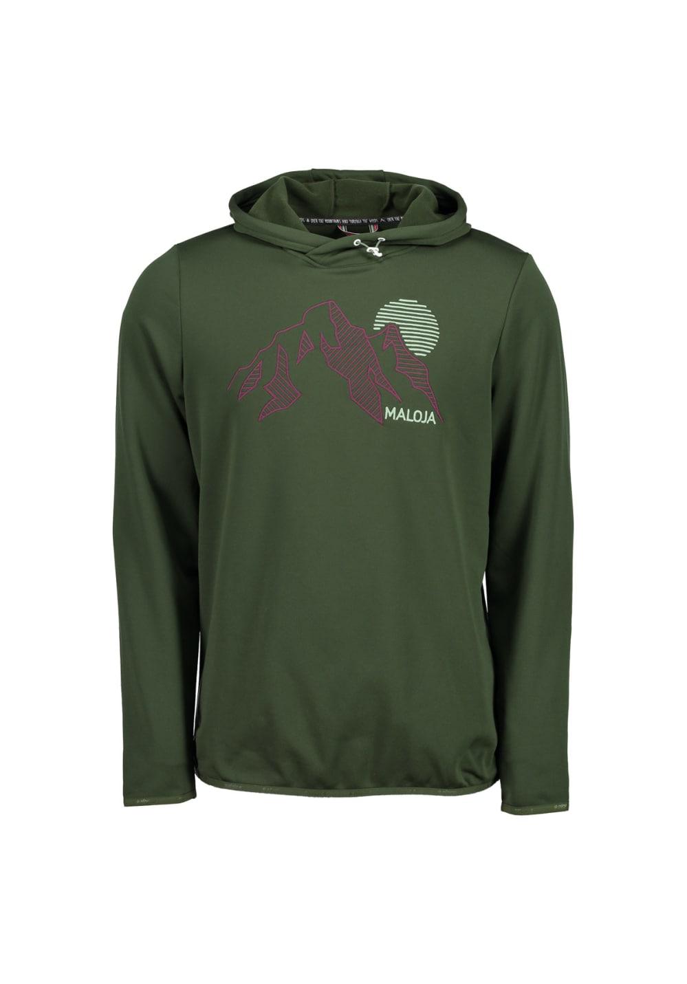 Maloja EscheM. FLeece Hoody - Sweatshirts & Hoodies für Herren - Grün, Gr. S