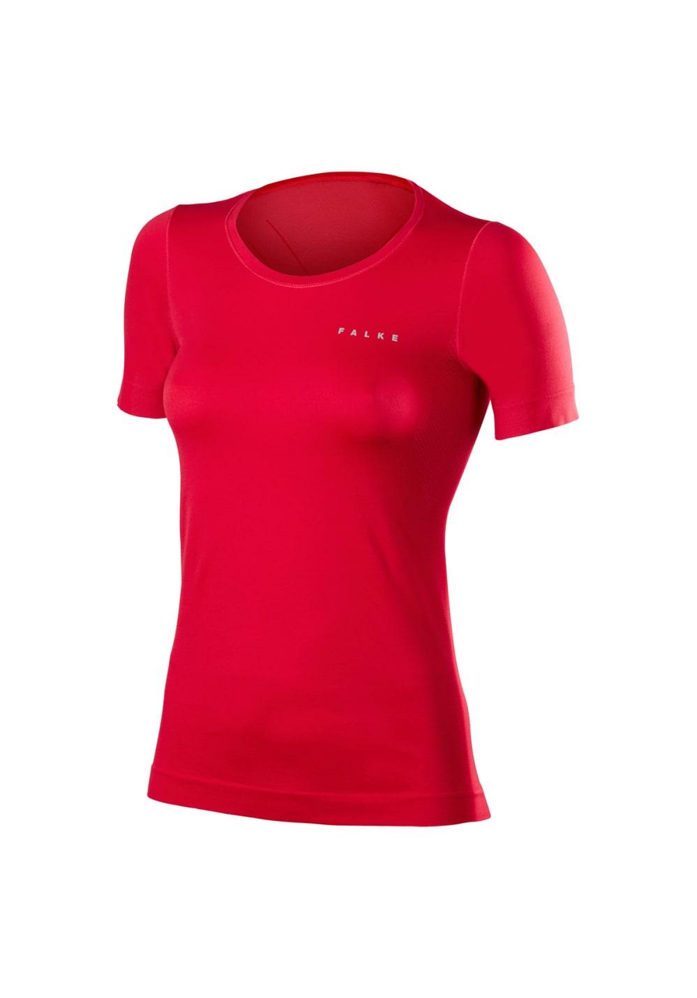 Falke RU Short Sleeve Shirt - Laufshirts für Damen - Rot, Gr. XS