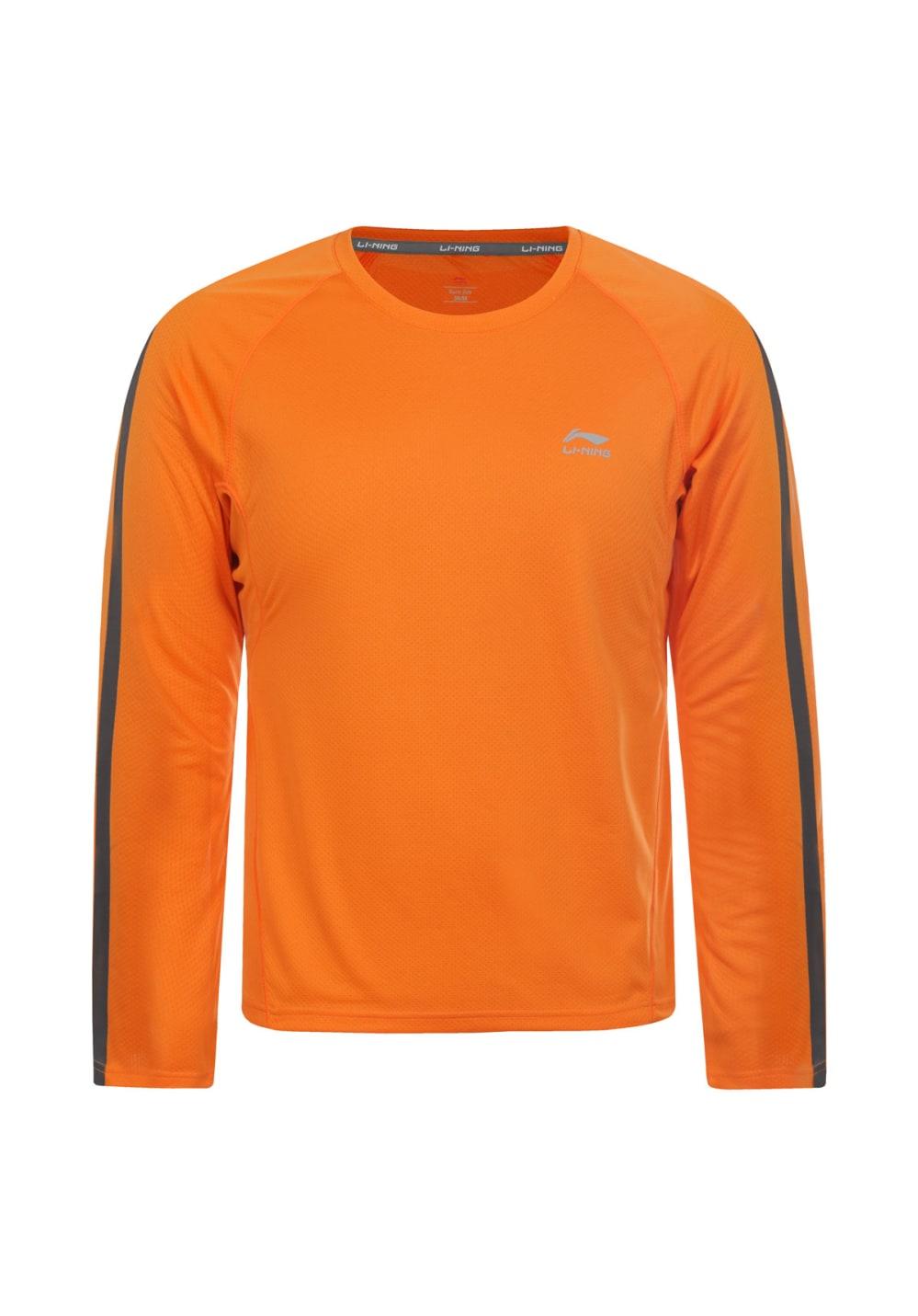 Li-Ning Sophie Long Sleeve - Laufshirts für Damen - Orange, Gr. XL