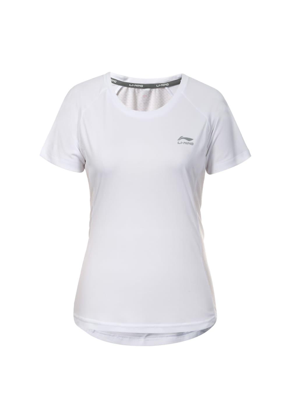 Li-Ning Stacy Short Sleeve - Laufshirts für Damen - Weiß, Gr. XL