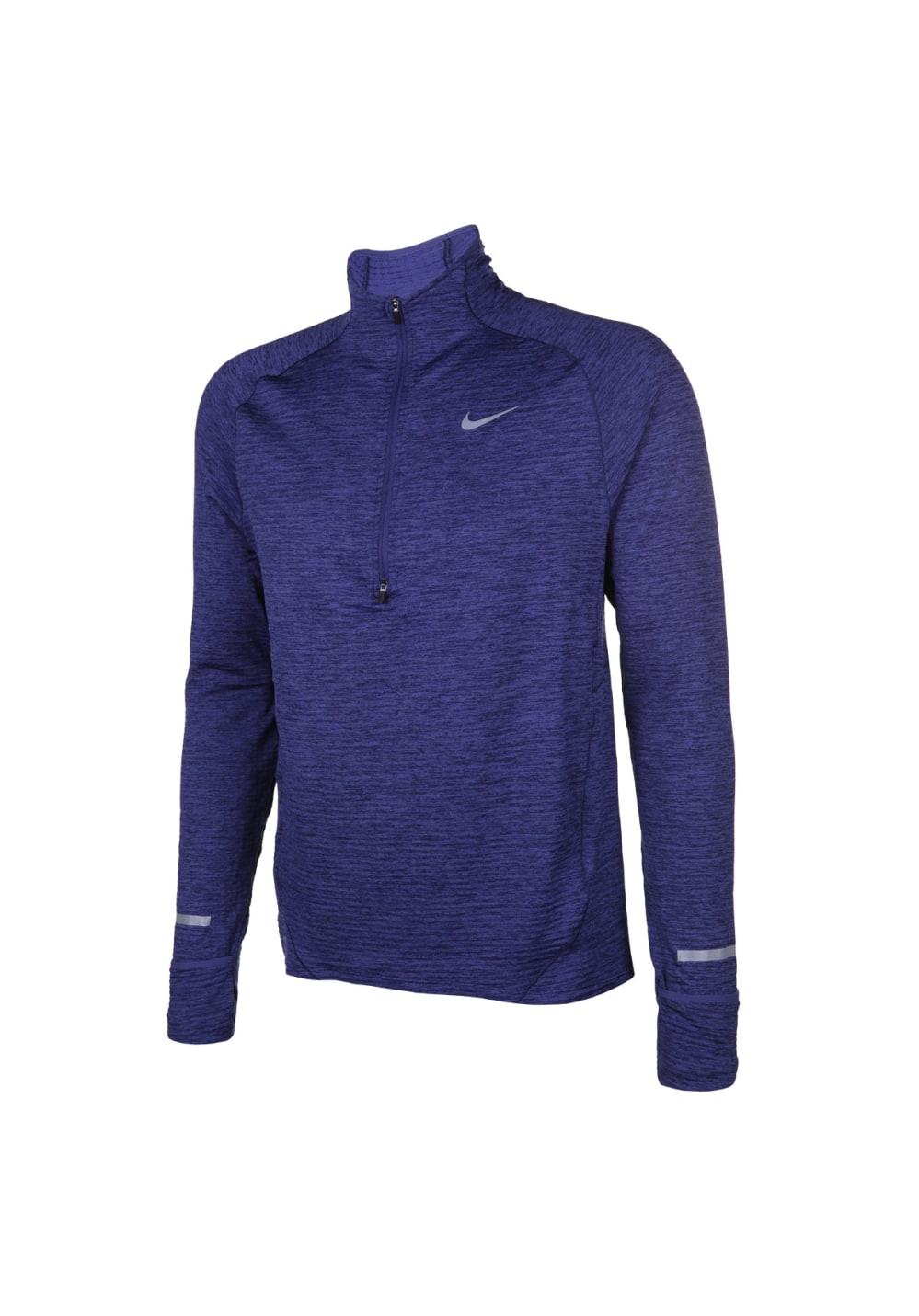 Nike Element Sphere Half-Zip Long Sleeve - Laufshirts für Herren - Blau, Gr. XL