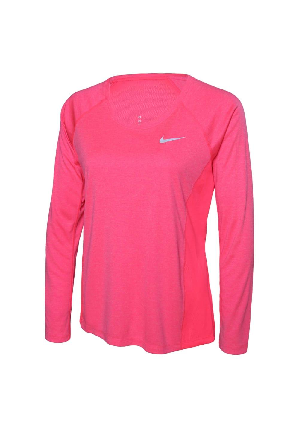 Nike Dry Miler Running Top Laufshirts für Damen Rot
