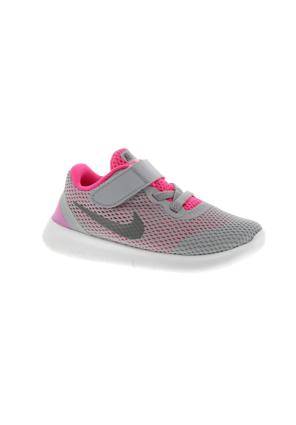Nike Free Run TDV - Laufschuhe für Mädchen - Grau