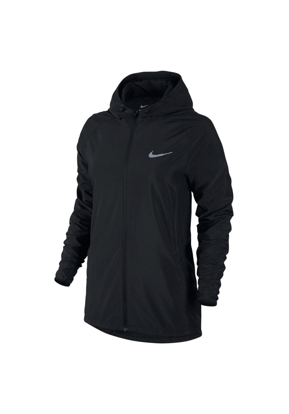 Nike Essential Hooded Running Jacket Laufjacken für Damen Schwarz