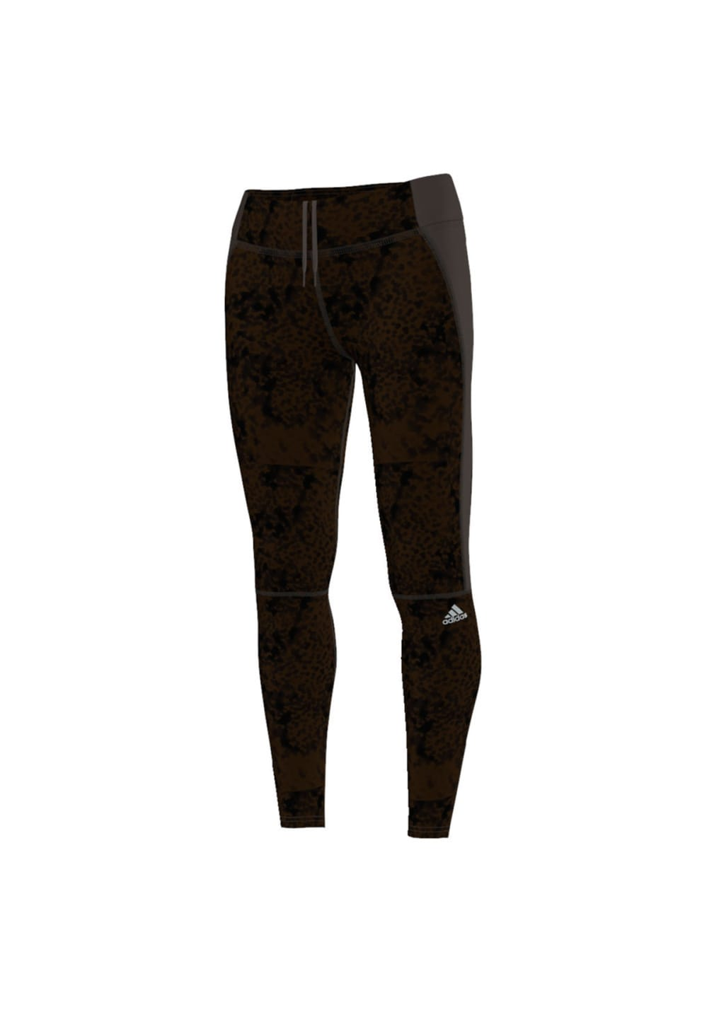 adidas Supernova Graphic Long Tight - Laufhosen für Damen - Schwarz, Gr. L