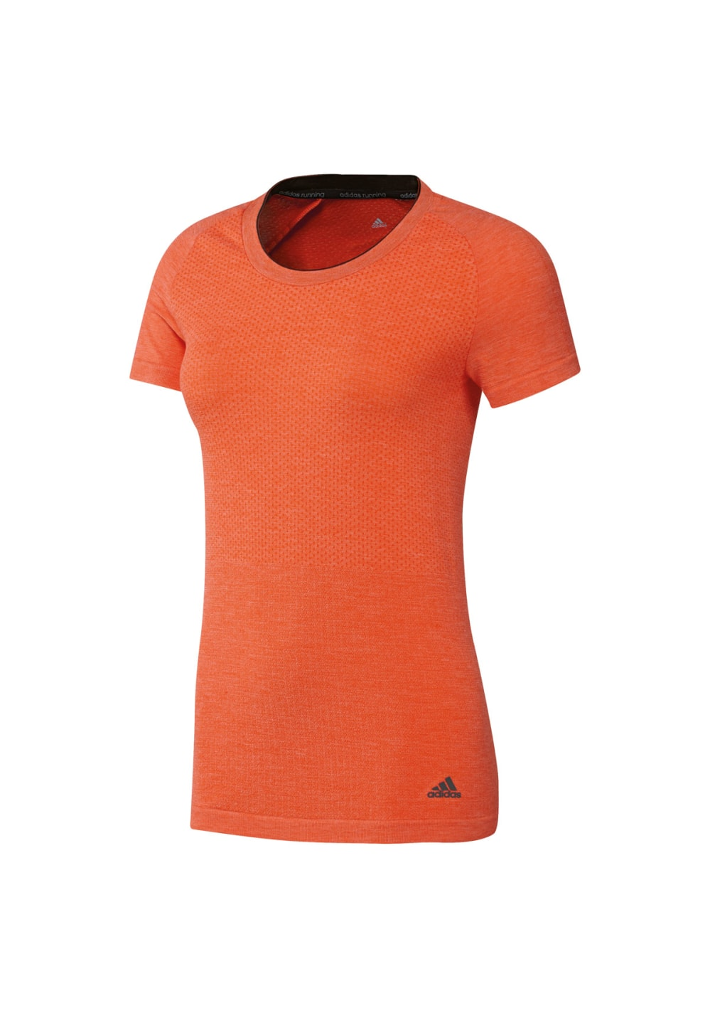 adidas adiStar Wool Primeknit Short Sleeve - Laufshirts für Damen - Orange, Gr.