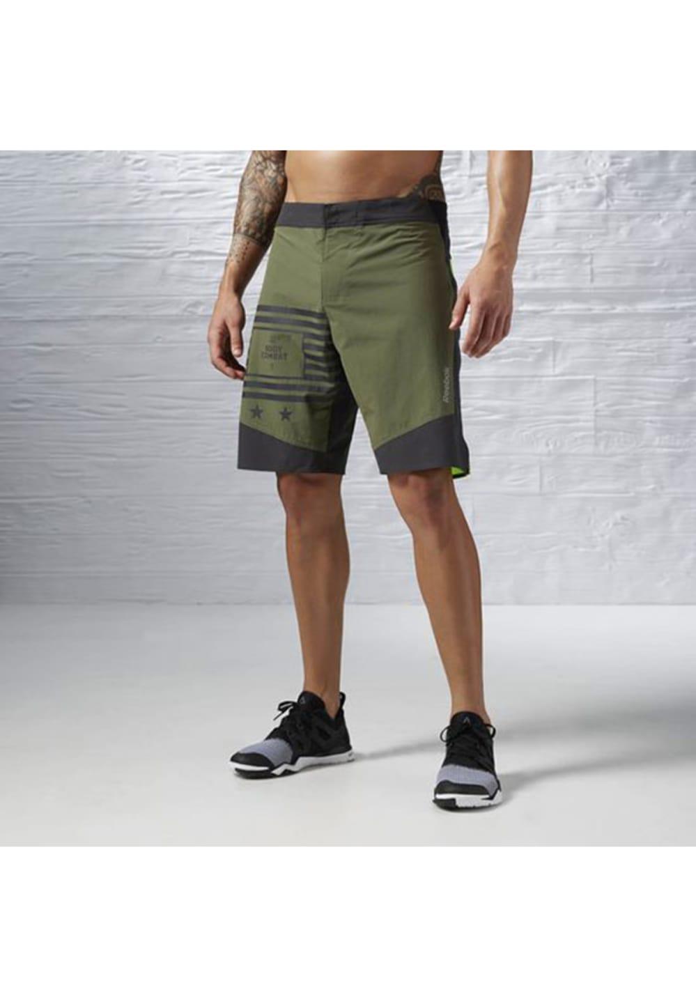 Reebok Les Mills Bodycombat Short - Laufhosen für Herren - Grün, Gr. XL
