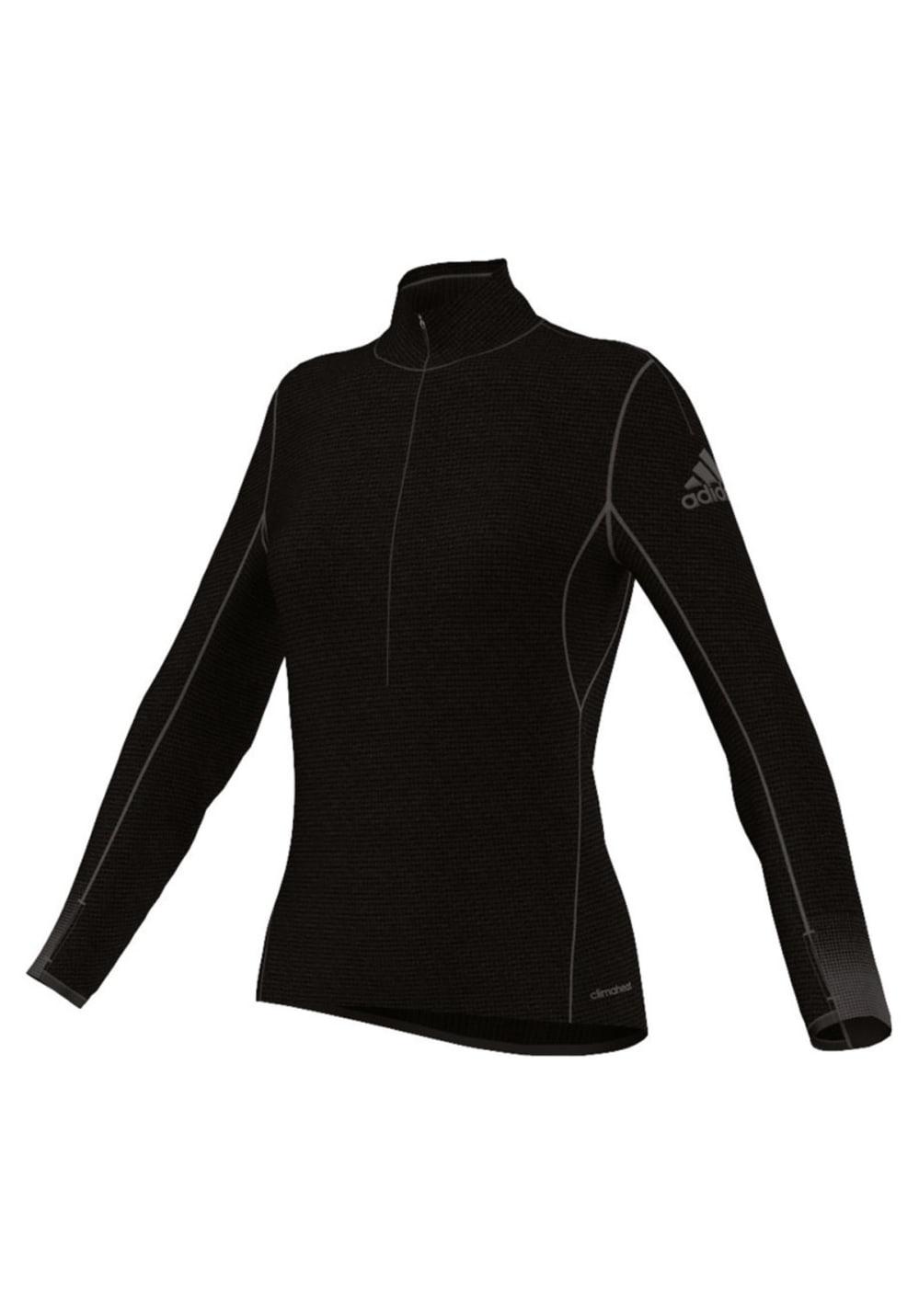 adidas Climaheat 1/2 Zip - Sweatshirts & Hoodies für Damen - Schwarz, Gr. S