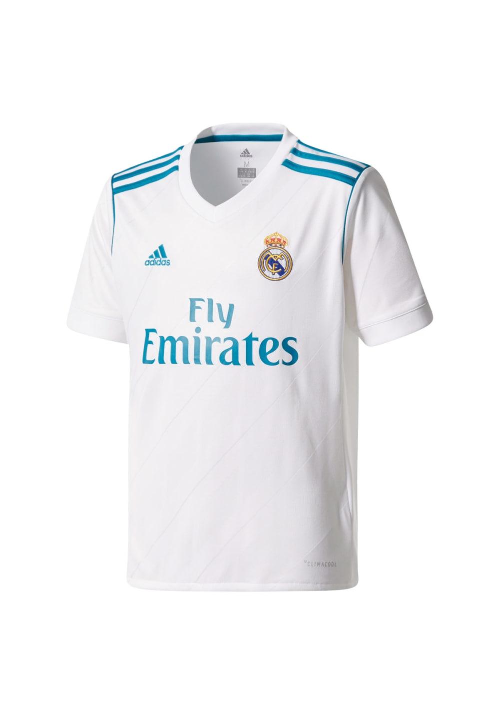 adidas Real Madrid Home Replica Jersey - Fußballbekleidung für Kinder Unisex -