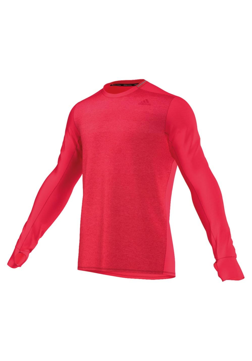 Artikel klicken und genauer betrachten! - Adidas Supernova Long Sleeve - CLIMALITE: Leichtes, weiches Gewebe für exzellentes Feuchtigkeitsmanagement - Daumenloch für warme Hände. - Reflektierende Details für erhöhte Sicherheit. - Regular Fit. 100% Polyester // 100% Polyester   im Online Shop kaufen