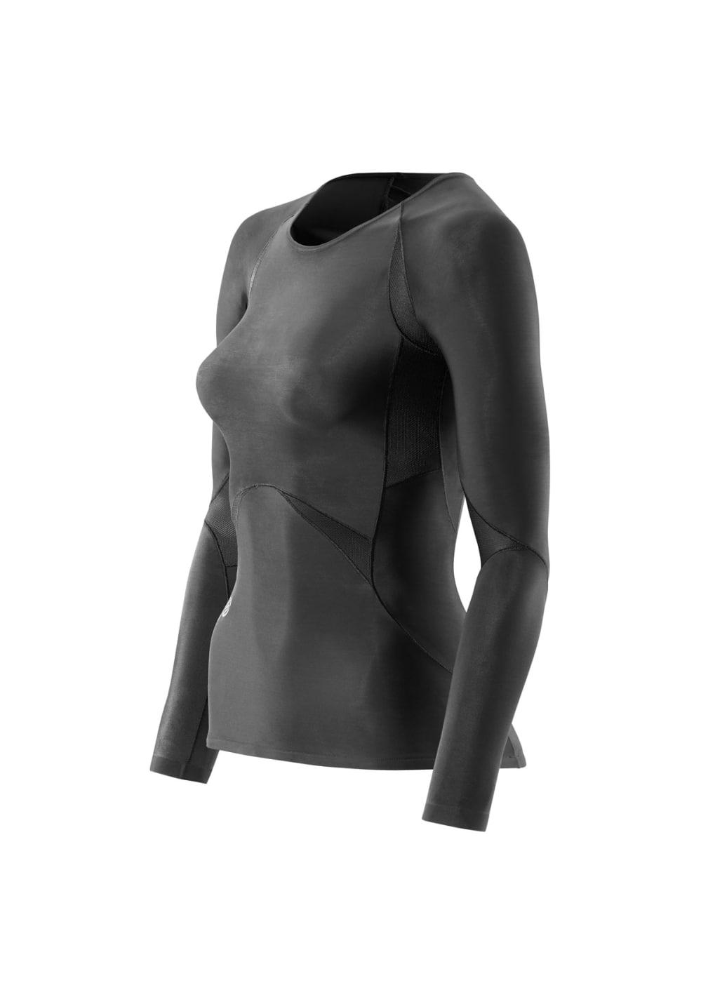 Skins RY400 Top Long Sleeve - Laufshirts für Damen - Schwarz, Gr. M