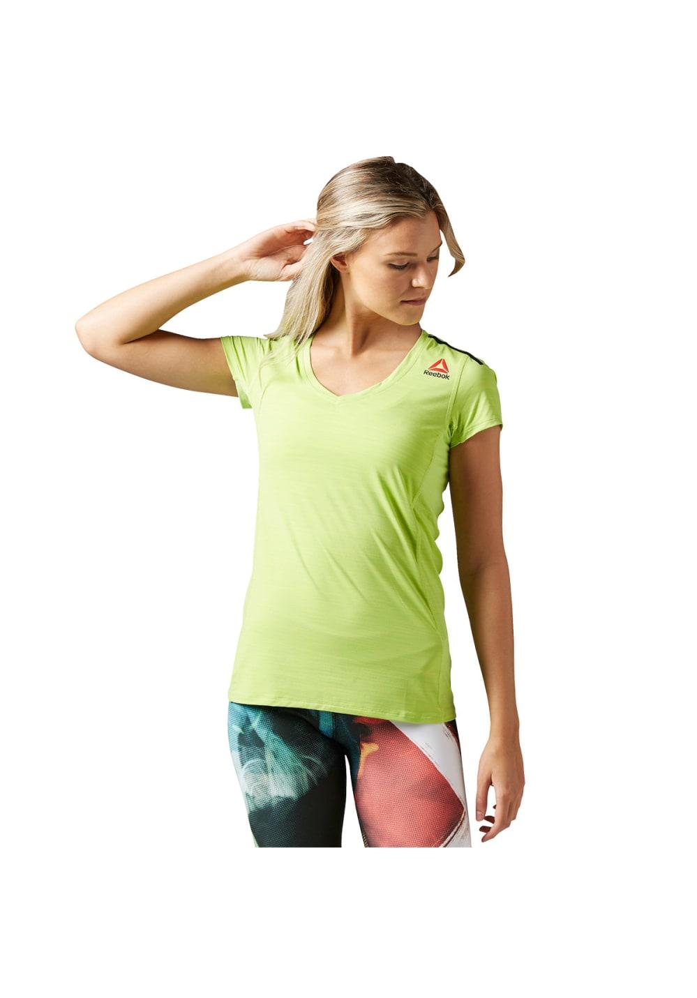 Reebok Active Chill Tee - Laufshirts für Damen - Gelb, Gr. XXS