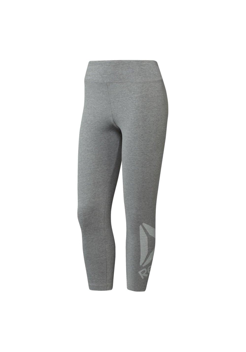 Reebok Elements Snow Melange Leggings - Laufhosen für Damen - Grau, Gr. XS