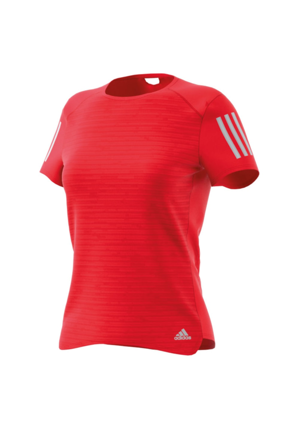 adidas Response Short Sleeve Tee - Laufshirts für Damen - Rot