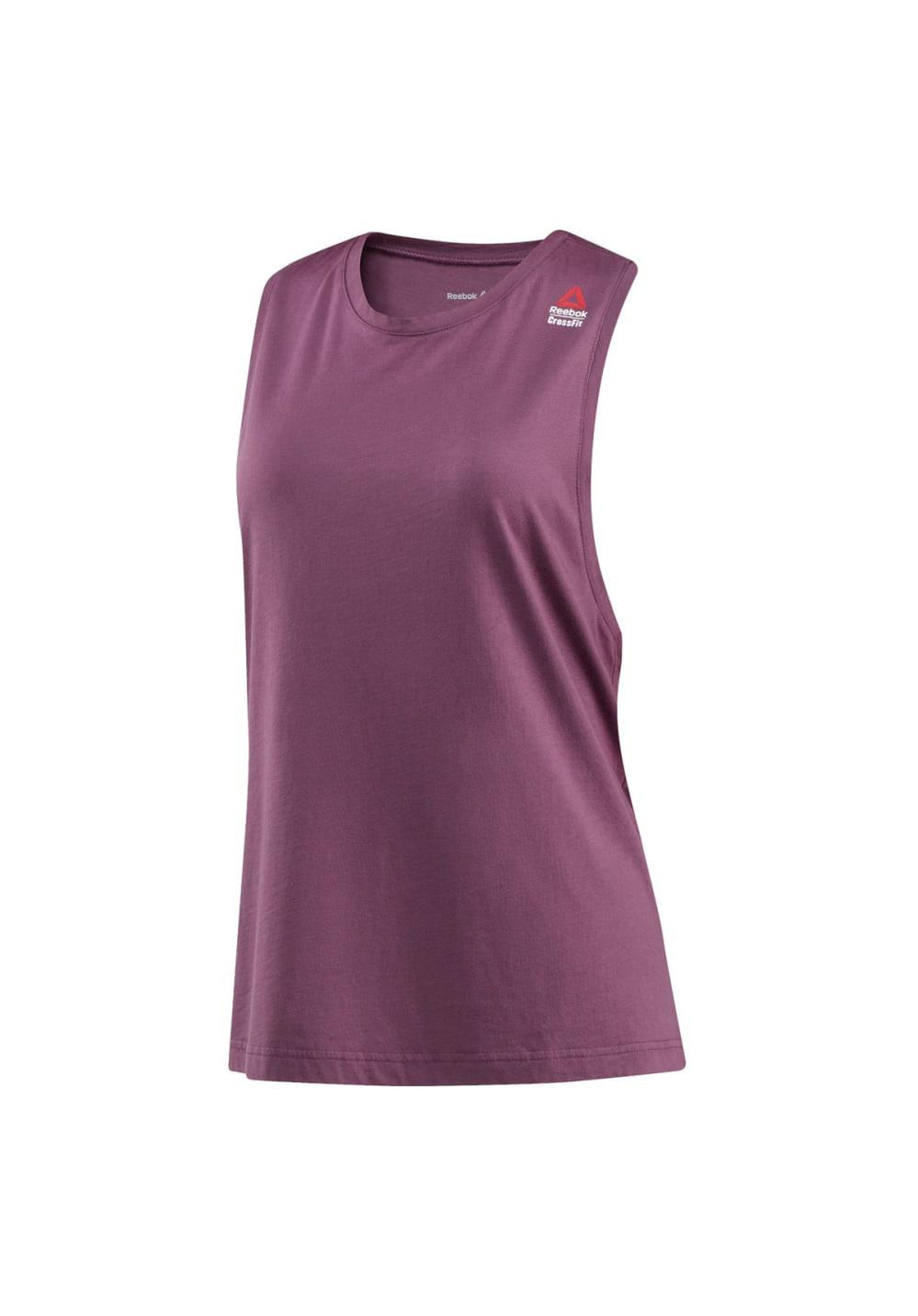 Reebok Crossfit Muscle Tank - Sprayed - Fitnessshirts für Damen - Lila, Gr. XS