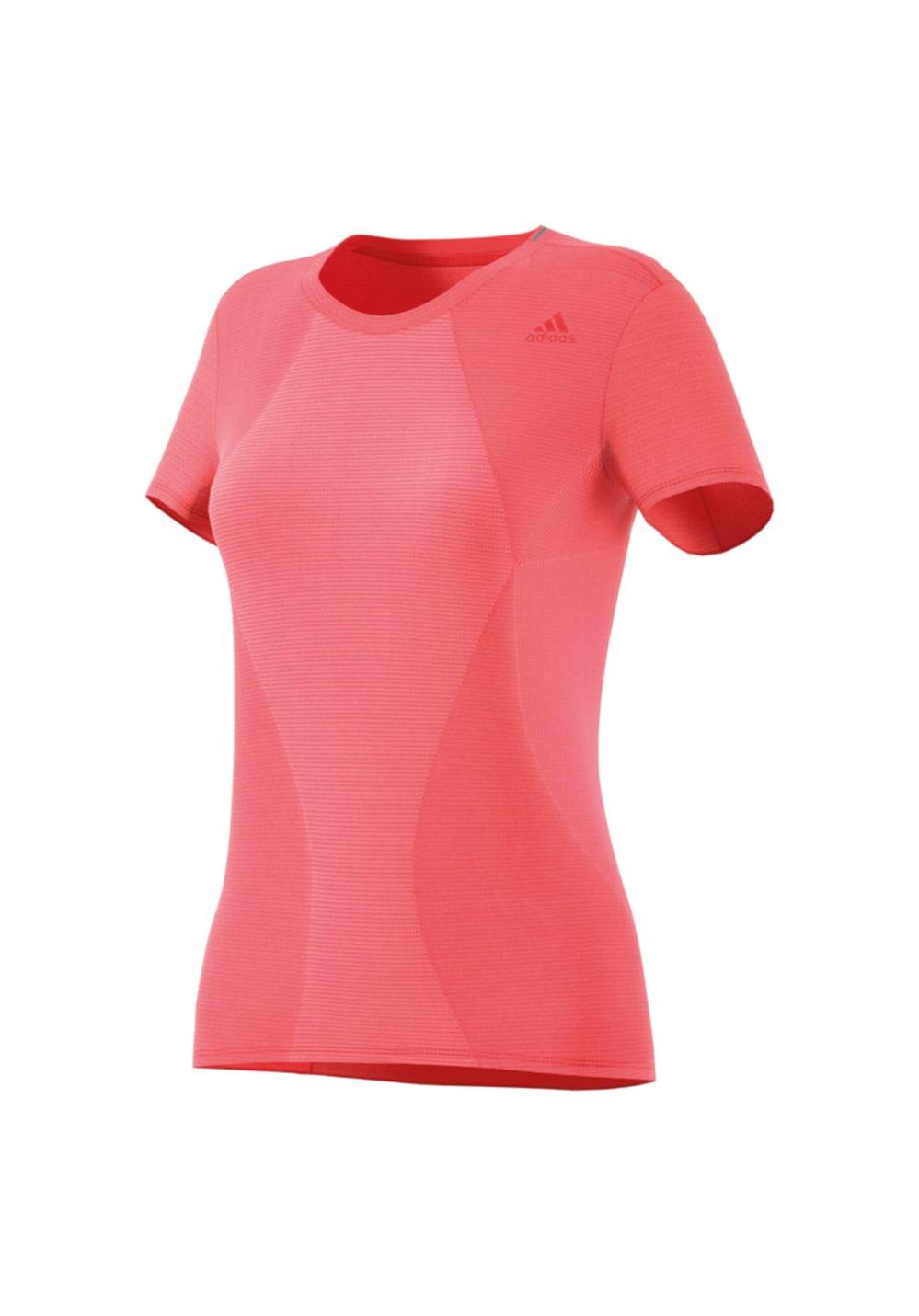 adidas Supernova Tee - Laufshirts für Damen - Rot, Gr. XS