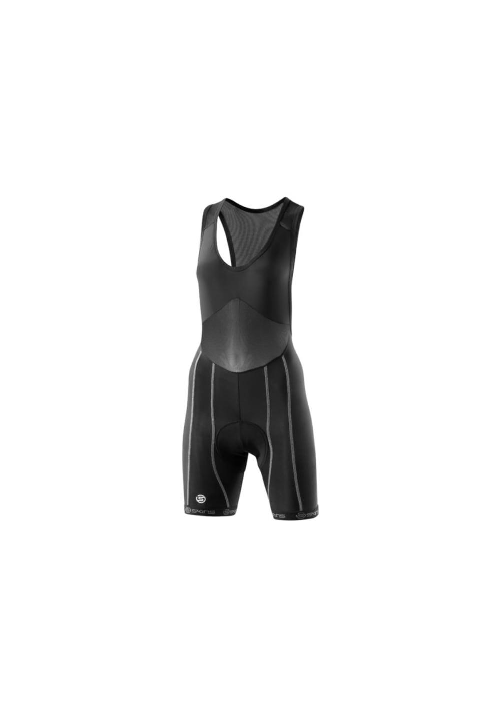Skins Cycle Pro Bib Shorts - Radhosen für Damen - Schwarz, Gr. FL