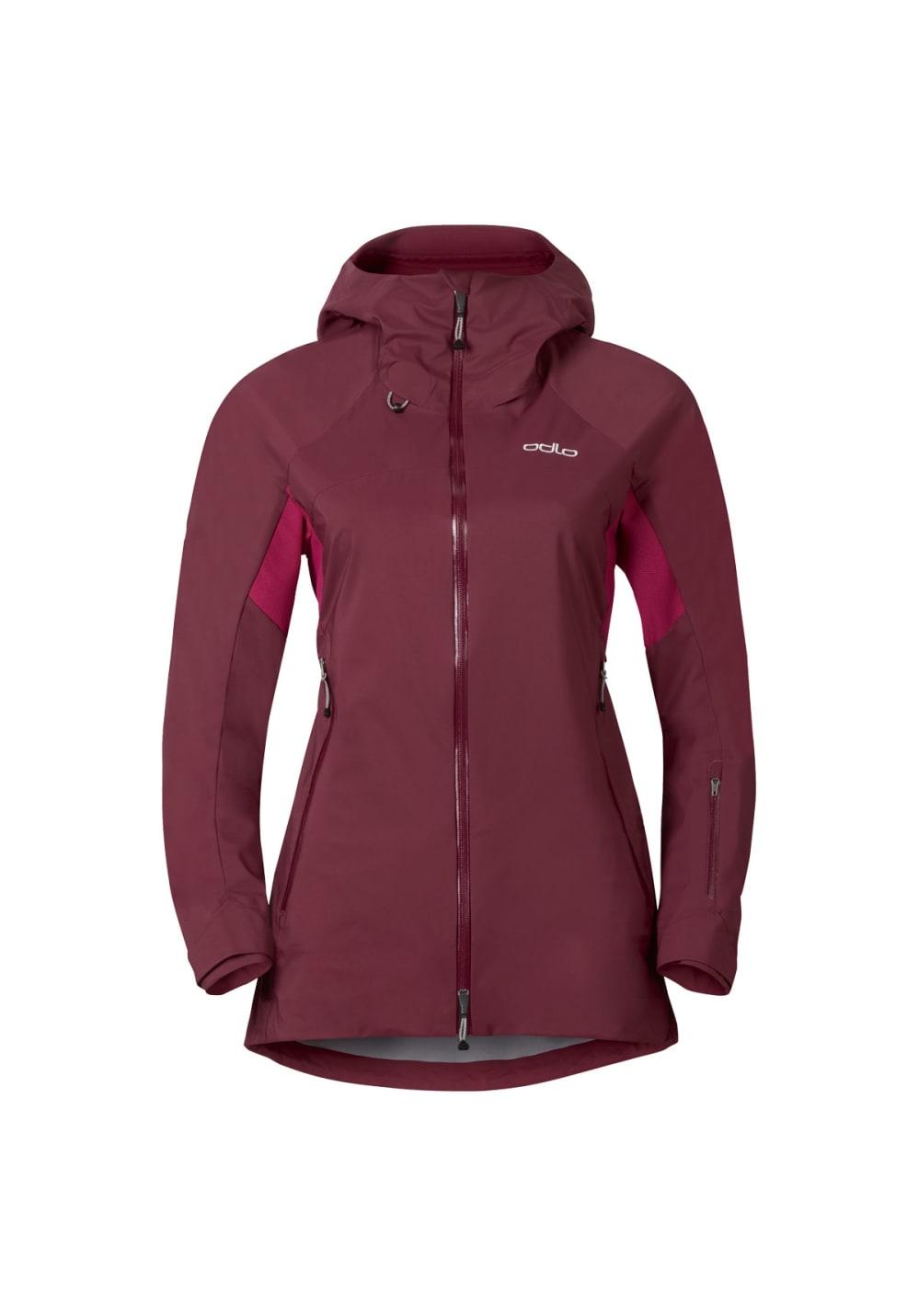 Odlo Jacket Synergy - Laufjacken für Damen - Rot, Gr. S