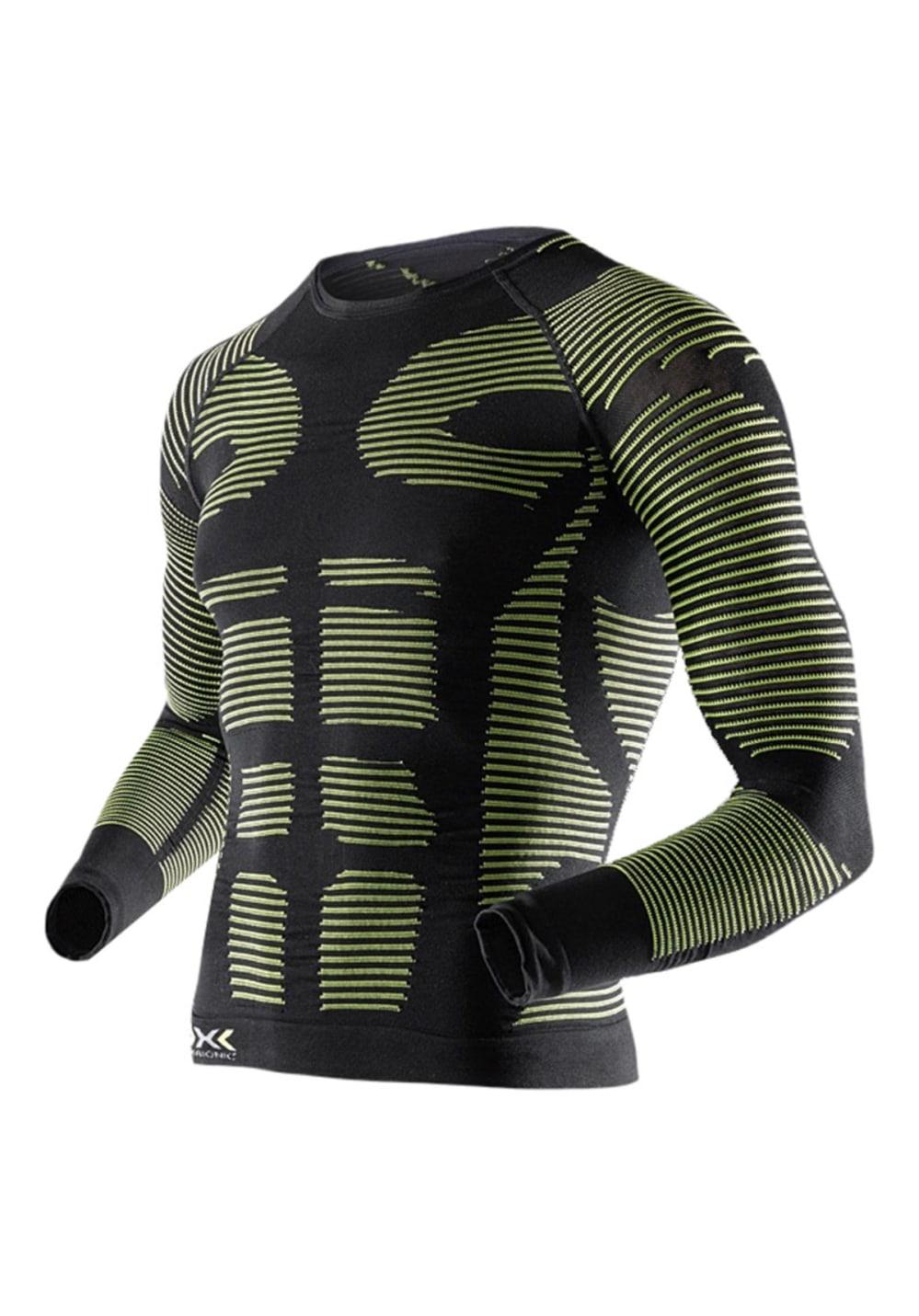 X-Bionic Precuperation Shirt Long Sleeves - Laufshirts für Herren - Grün