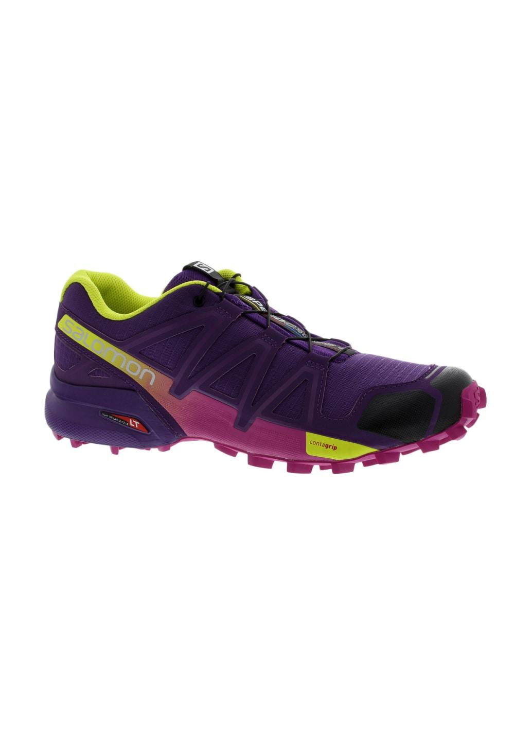 Salomon Femme Pour 4 Speedcross Running Chaussures Violet 54AcRL3jq