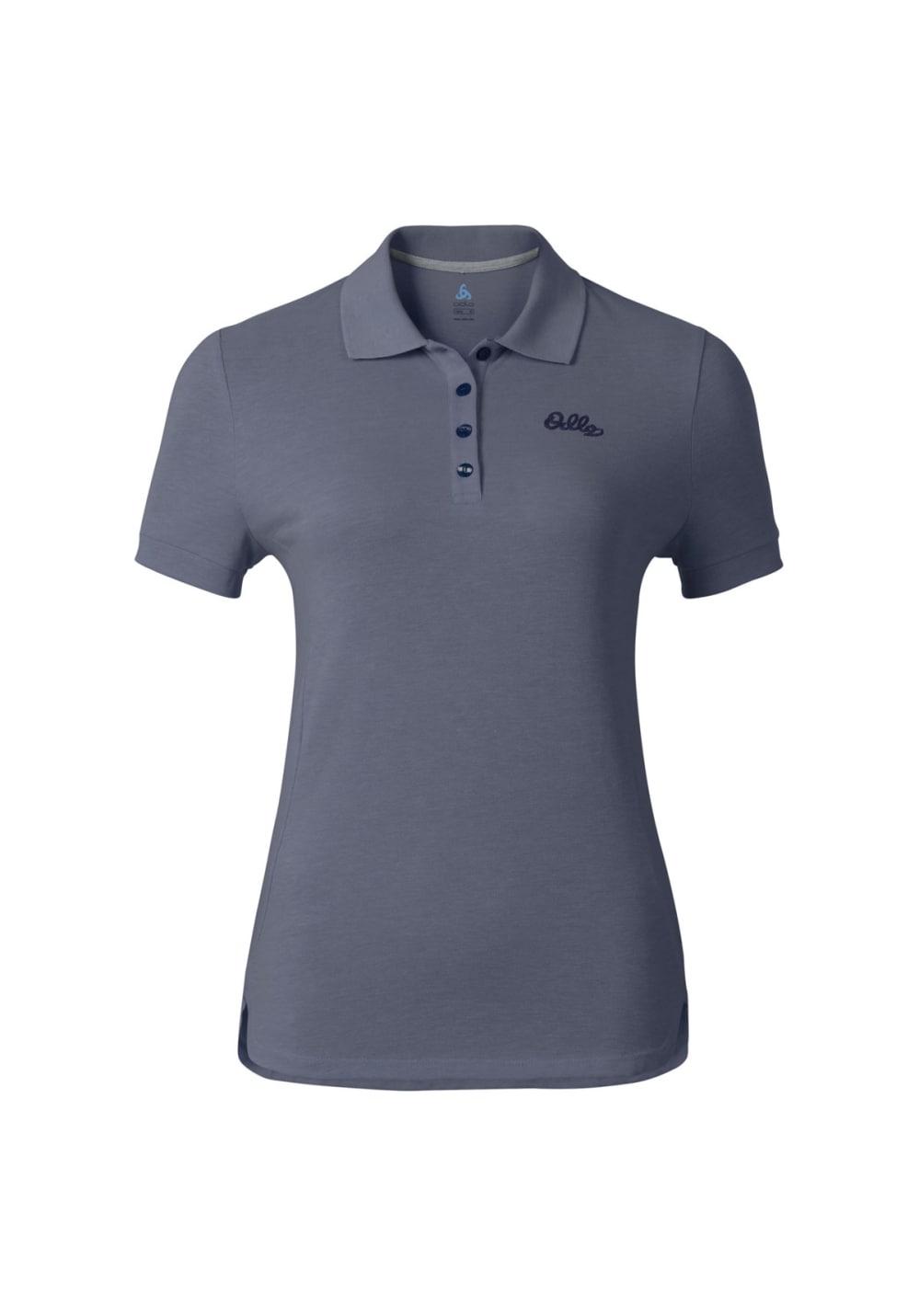 Odlo Polo Shirt Short Sleeve Trim - Laufshirts für Damen - Grau, Gr. S