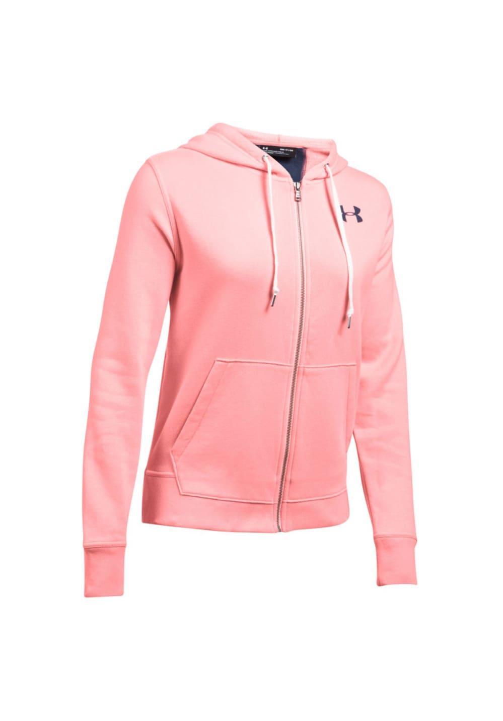 Under Armour Favorite Fleece Full Zip - Sweatshirts & Hoodies für Damen - Pink,